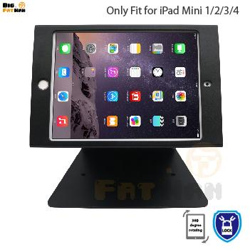 360 rotation tablet pc stand for iPad mini 12 3 4 holder desktop security holder stand for kiosk POS secure lock shop support