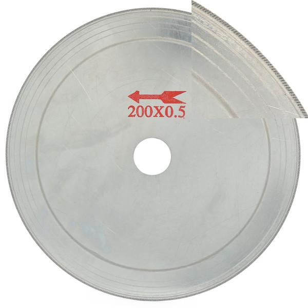 "8"" inch Super-Thin Arbor Hole 25 mm Rim 0.65 Diamond Jewelry Saw Blades Cutting Disc Lapidary Saws Tools for Stone Tool Gemstone"