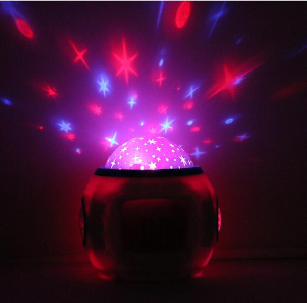Retail New Colorful LED Electronic clock timer Music Starry Star Sky projection alarm clock Calendar Thermometer