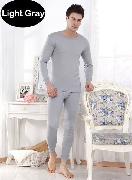 2pcs Winter Warm Men's Thermal Underwear Suits Top Bottom Fur Fleeced Long Johns Waffle Knit Keep Warm Undershirt Leggings Run Small 1 Set