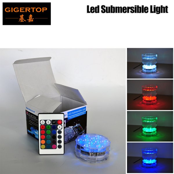 Good Quality AAA Battery Waterproof IP44 Under Water Led Light IRC RGB Color Changing 7cmx7cmx3cm Glass Seat Light Cheap Price TP-E28