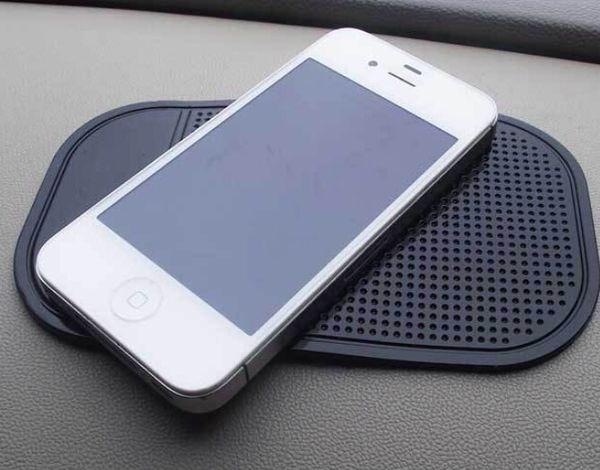 Painel Do Carro preto Almofada Pegajosa Mat Anti Antiderrapante Gadget GPS Do Telefone Móvel Titular Itens Interiores Acessórios