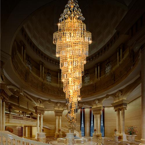 Crystal chandeliers factory direct sales luxury traditional high end K9 crystal chandelier hotel lobby villa project chandeliers with bulbs
