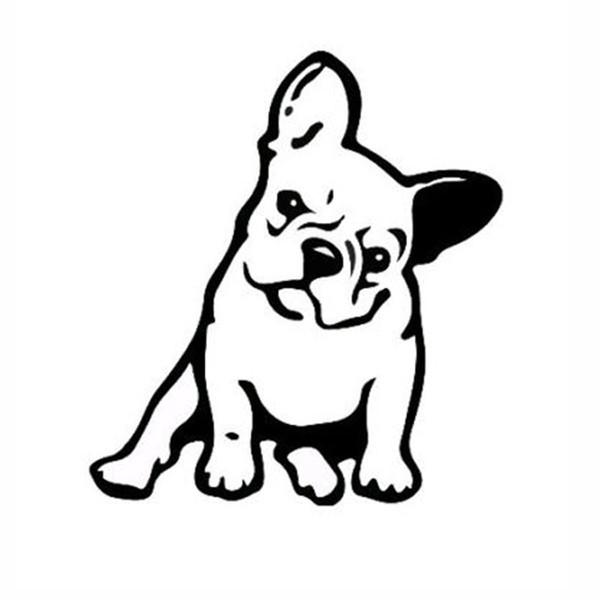 11.5*12.7CM 10 Color Cute Animal Car Sticker French Bulldog Dog Vinyl Decal Kindergarten Window Decoration JDM
