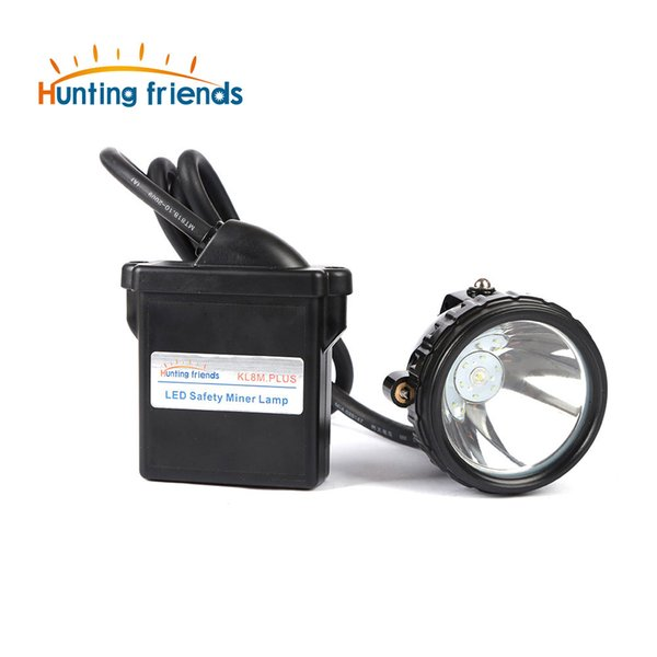 10pcs/lot New 1+6 LED Safety Miner Lamp KL8M.Plus Professional Explosion Proof Cap Lamp Waterproof Headlight for Outdoor Sports