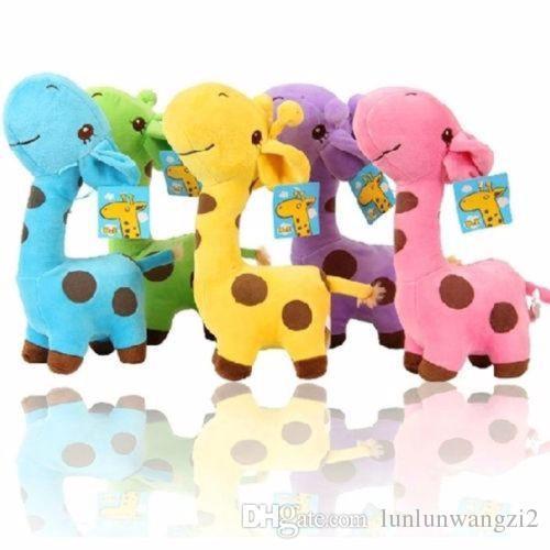 1 PCS Unisex express Gift Plush Giraffe Soft Toy Animal Dear Doll Baby Kid Child Girls Christmas Birthday Happy Colorful Gifts