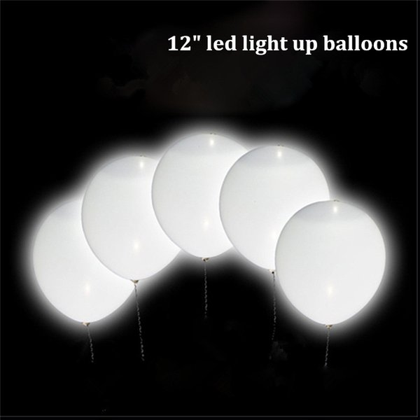 Hot Sale Luminous Led Balloons 12 Inch Inflatable Air Bubble Latex Light Up Balloon Wedding Birthday Party Decorations Led Ballon Wholesale
