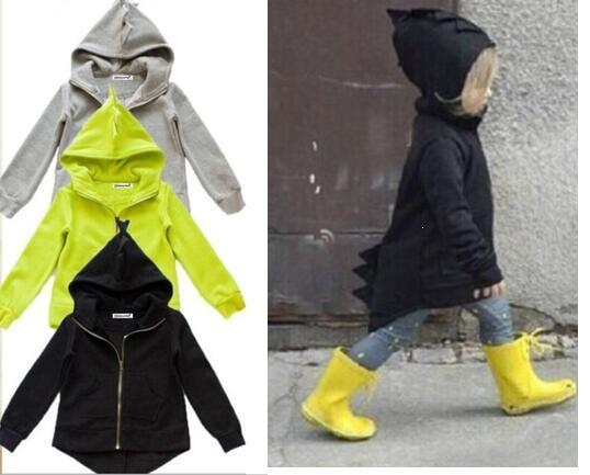 Spring Autumn Children outerwear coat sporty kids jackets fashion boys jackets coats Dinosaur Hoodead