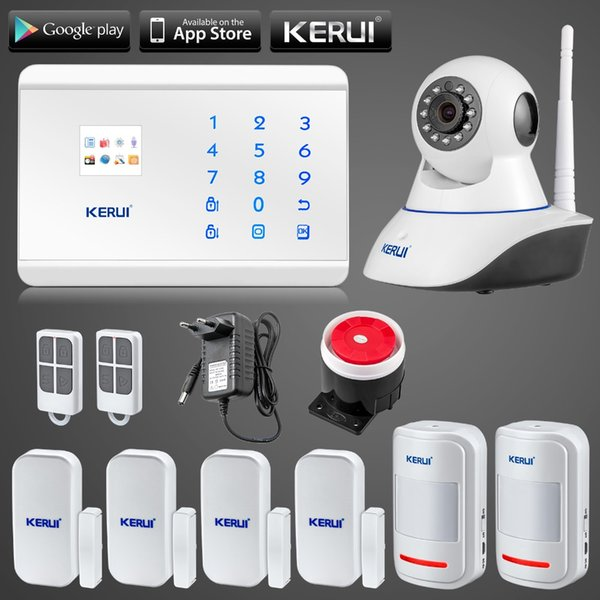 LS111- KERUI N62 WIfi ip camera APP Control Wireless GSM PSTN Home House Alarm Security System Autodial IOS Android remote arm/disarm