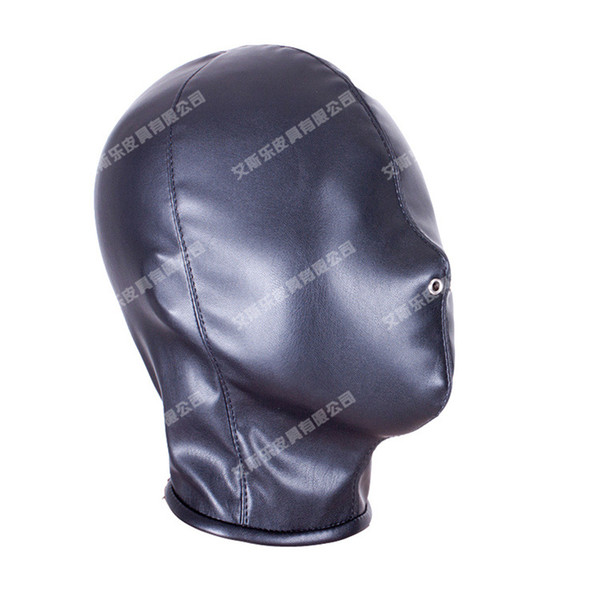 Bdsm Sex Toys Choking Stifle Suffocate Asphyxia Game Sex Slave Head Face Mask Blindness Hoods Bondage BDSM Pu Products Free shipping