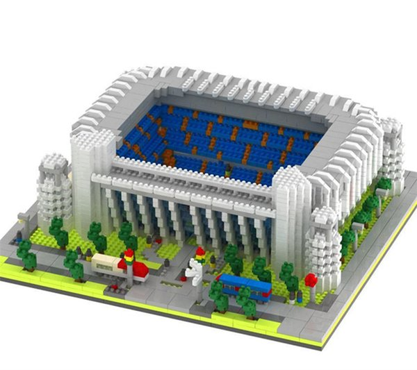 4575+ architecture Diamond Blocks 3D World Famous club spain football filed Building Action Figure Juguetes Toys Kids Gift #065