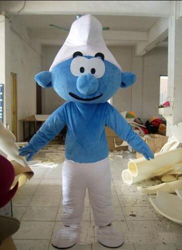 Il costume della mascotte di puffo di vendita di alta qualità per la dimensione adulta degli elfi del costume della mascotte libera il trasporto