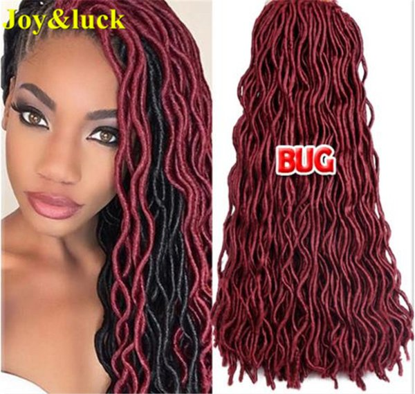 top popular New And Hot 20inch Fauc locs Crochet Braids Burgandy Blonde Color Cheap Factory Price High Quqality Synthetic Hair Extention 2020