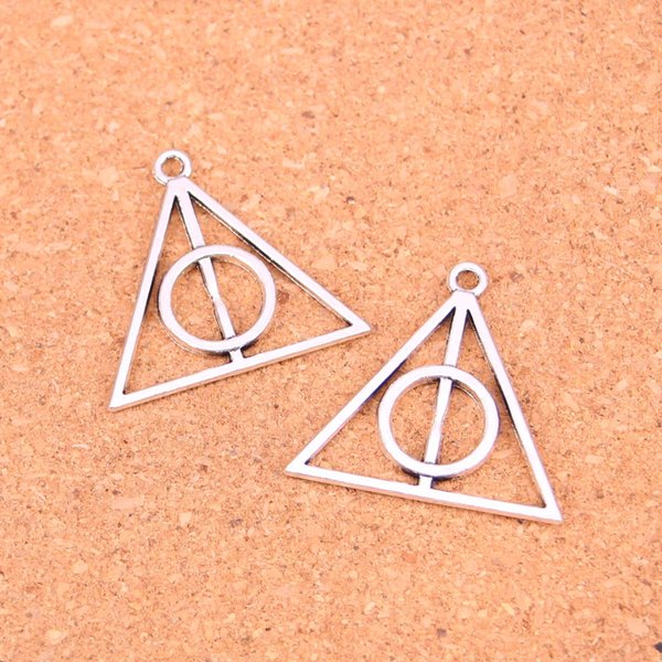 45pcs Antik Silber Charms Heiligtümer des Todes Anhänger Fit Armbänder Halskette DIY Metallschmuckherstellung 32mm