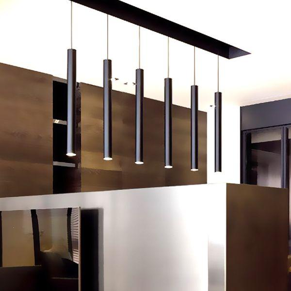 best selling LukLoy Pendant Lamp Lights Kitchen Island Dining Living Room Shop Decoration, Cylinder Pipe Pendant Lights Kitchen Light