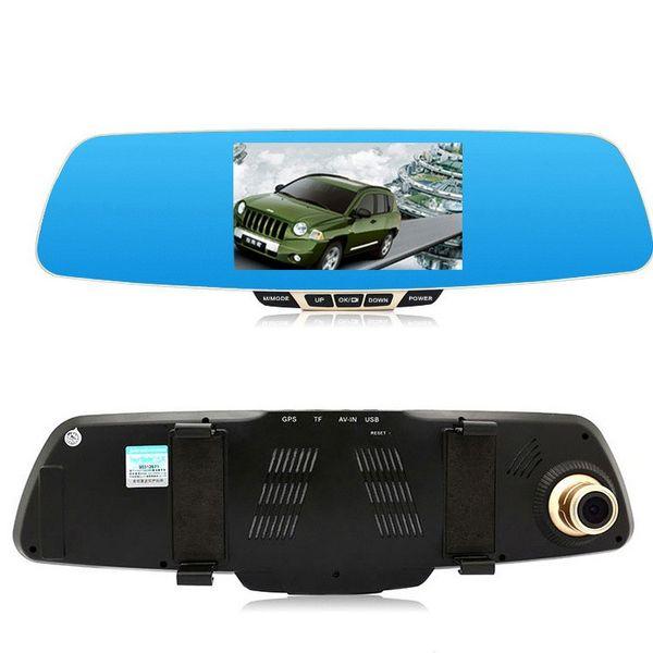 BEIBEIKA 5.0 inch HD Blue LCD Screen Android GPS Navigation Mirror Car DVR Dual Lens Blue Mirror Rear view car dvr
