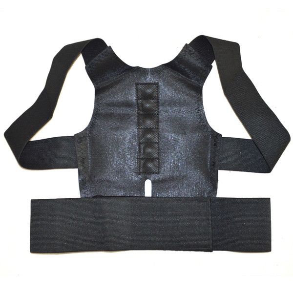 Wholesale- Magnetic Back Shoulder Posture Corrector Back Support Straighten Out Brace Belt Orthopaedic Adjustable Unisex Health