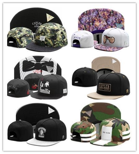 New CAYLER SONS Bonés Bonés de Beisebol Ajustável Snapback HatS Bonés de beisebol Adulto boné de beisebol Acceap Ordem Mix