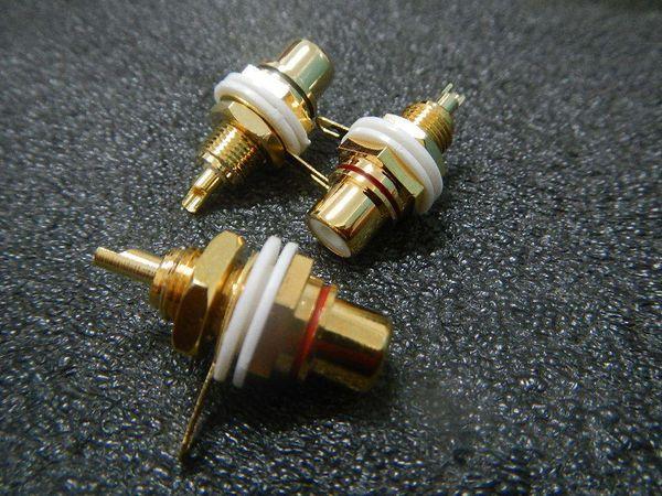 50pairs Taiwan, connettore AMP RCA dorato telaio femminile Nuovo 0581