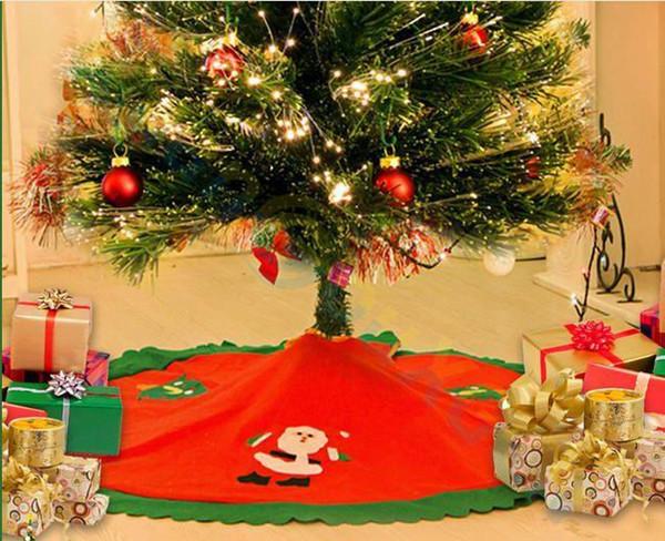 Skirt Santa Claus Tree Christmas Decor Non-Woven Apro Christmas Tree Skirt