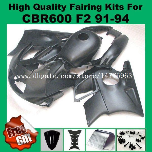 9Gifts fairings for HONDA CBR600F2 1991 1992 1993 1994 CBR600 F2 91 92 93 94 CBR 600RR F2 BLACK motorcycle fairings