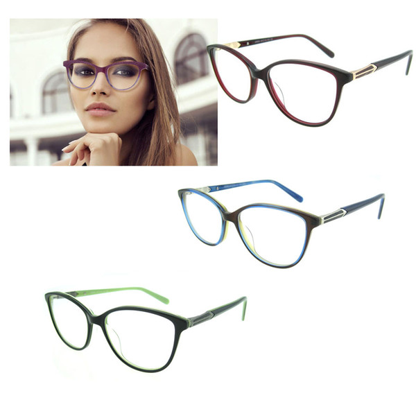6d74217a3c Metal eye glasses frames for women 2017 Eyeglasses Frames Women Optical  prescription Round glasses Clear Lens Reading Glasses