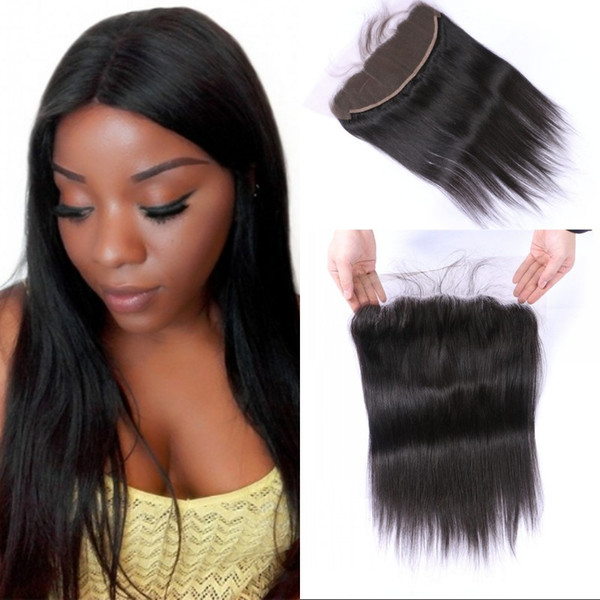 Burmese Virgin Human Hair Middle Free 3 Part Straight Lace Frontal Closure with Baby Hair 8-22 inch FDSHINE