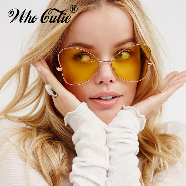 Venta al por mayor 2017 Catwalks Cat Eye Sunglasses para niñas amor en forma de corazón mariposa en forma de gafas de sol diseñador de la marca OM93 Freeshipping