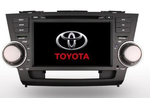 Car Dvd Gps for TOYOTA HIGHLANDER 2009--2014 + steering wheel control+ phonebook+bluetooth music+ipod+dvd+ map