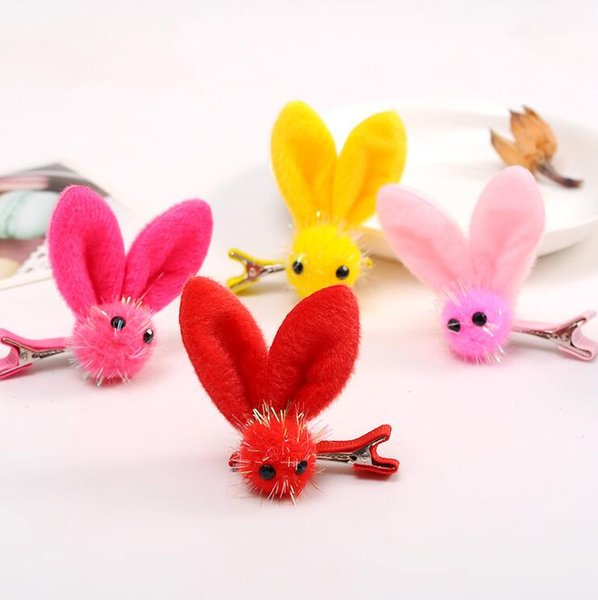 Hot sale Elf rabbit ears girl hairpin hand hairpin baby children hair clips hair accessories FJ066 mix order 60 pieces a lot