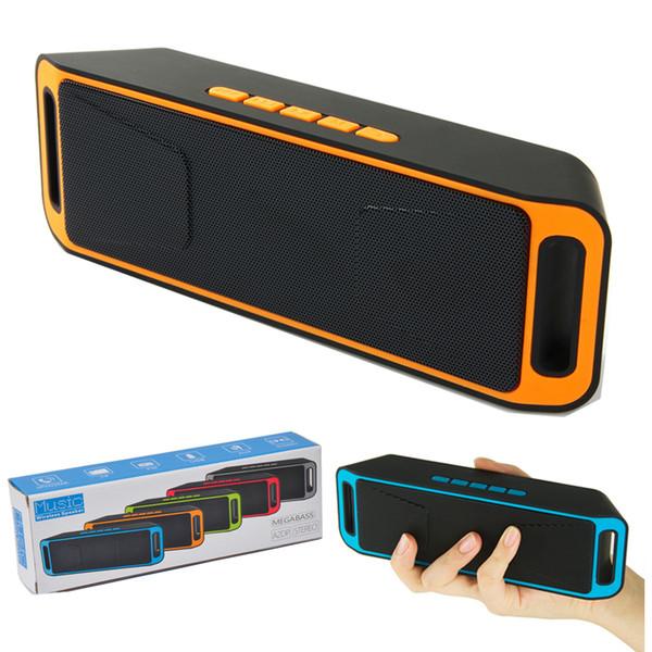 Kablosuz Bluetooth Hoparlör SC-208 Taşınabilir Mini Hoparlörler Stereo Ses Süper Bas Müzik Soundbar Subwoofer Desteği FM Radyo TF Kart
