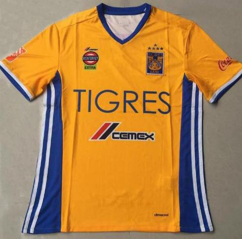 low priced 7a1b4 61276 2019 DHL Shipping Tigres UANL 5 Stars Soccer Jersey Thai Quality 2016 2017  Mexico Club Tigres UANL Home Yellow 5 Stars Shirt Football Jersey From ...