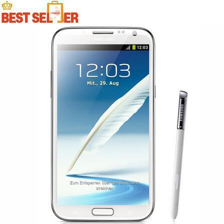 N7100 Сотовый телефон Samsung Galaxy Note 2 N7100 Мобильный телефон 5,5-дюймовый 8.0MP 2 ГБ RAM 16 ГБ ROM Quad Core Бесплатная доставка