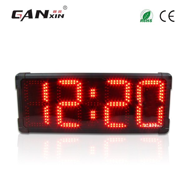 top popular [GANXIN] New 8 inch 4 Digits Outdoor Use Waterproof led Marathon Timer Large Display Clock Used for Outdoor Sports 2020
