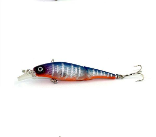 Best Price 8PCS Double Multi-section Fake Baits 11cm Lifelike Hard Baits 7.4g Saltwater Fishing Lures