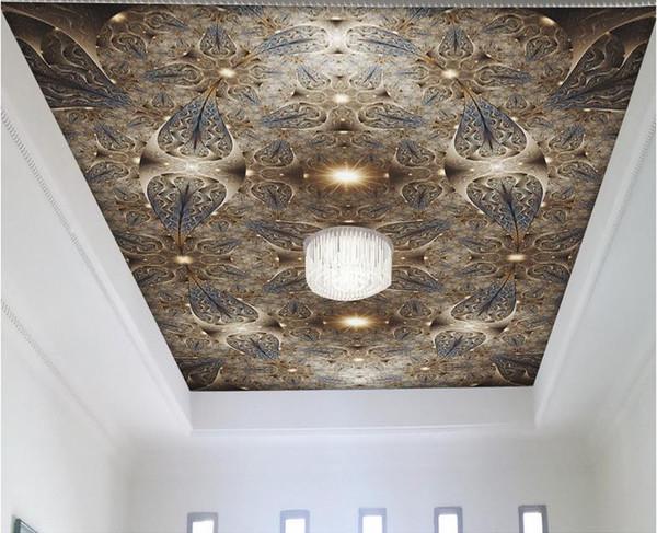 papel tapiz de lujo d de lujo para los techos flor de oro abstracto estilo europeo