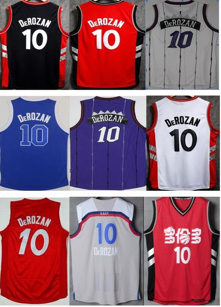 sports shoes bf458 284d3 2019 Cheap Sale #10 DeMar DeRozan Basketball Jerseys Home Road Alternate  Color White Black Red Jerseys For Men From Martens_tony, $14.73 | DHgate.Com