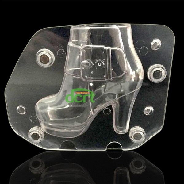 Plastic DIY 3D High-Heeled Shoe Chocolate Mold Stereo Lady's Shoes Candy Jelly Mold Baking Cake Decorating Tools