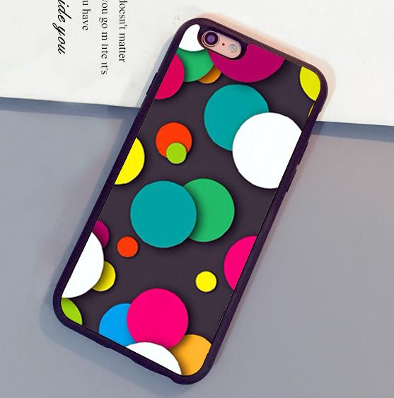 Cute colorful dots 3D Phone Cases For iPhone 6 6S Plus 7 7 Plus 5 5S 5C SE 4S Back Cover