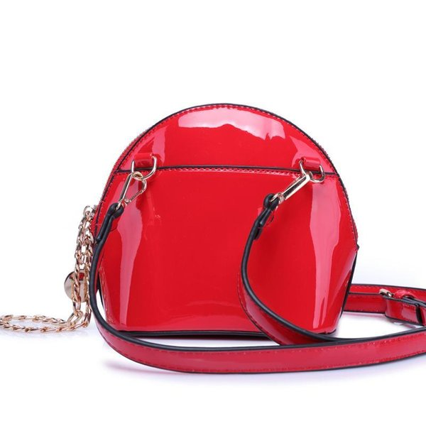 Nice- Summer Fashion Female Patent Leather Handbag Women Mini Shoulder Bag Candy Color Ladies Hand Bags Coin Purse Messenger Bags