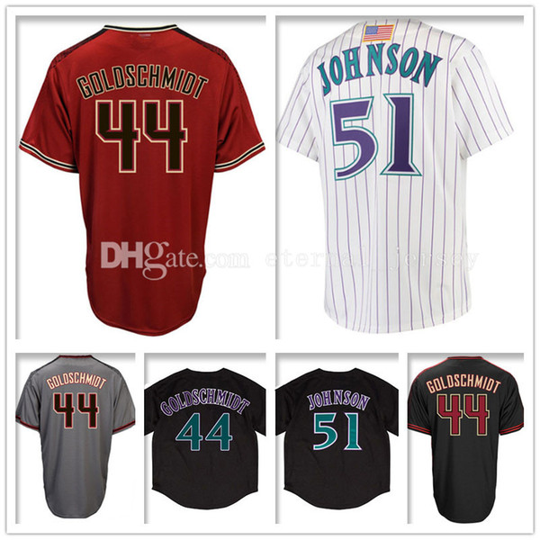 new product 17131 6cee7 Best Men'S 44 Paul Goldschmidt 51 Randy Johnson Baseball Jerseys Paul  Goldschmidt 51 Randy Johnson Jersey Embroidery And 100% Stitched Under  $16.1   ...