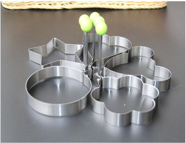 Stainless Steel Egg Shaper Egg Mold Cooking Tools Pancake Molds Ring Heart Flower Kitchen Gadget Free Shipping