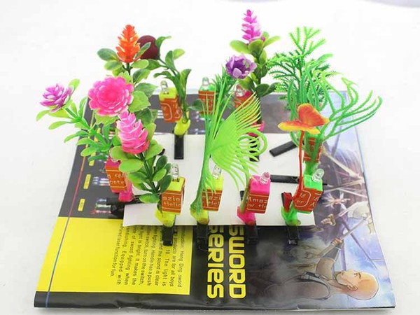The new luminous sell Meng artifact head long grass plant flowers and sprouts Funny hairpin hair accessories scenic hot