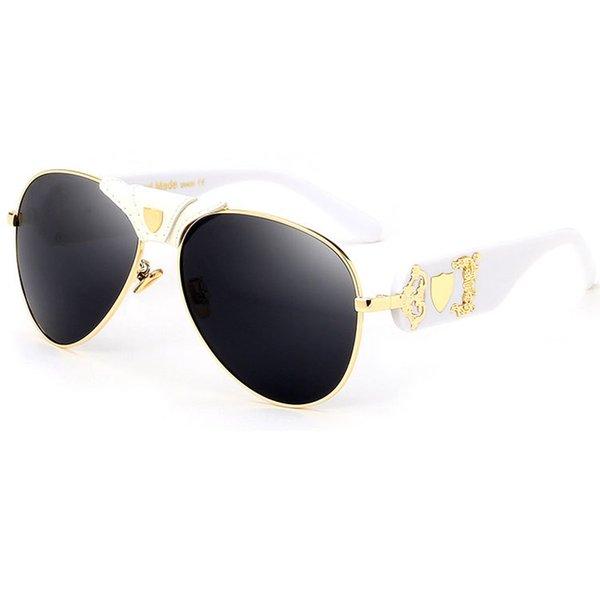 C9 Gold White Frame Grey Lens