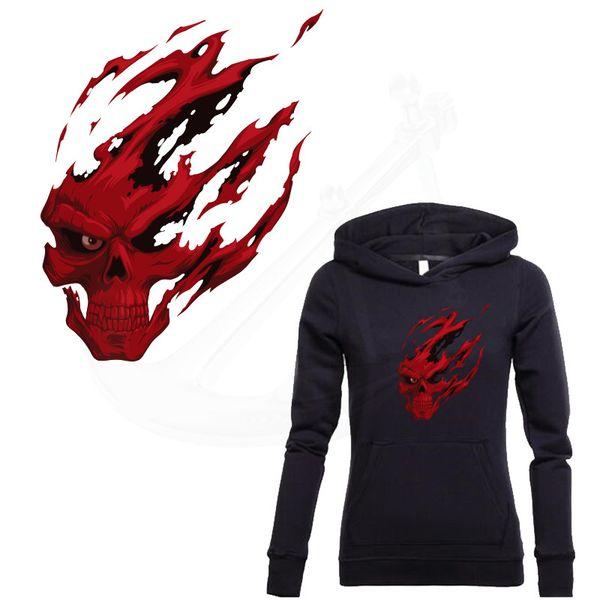 Compre Parche Para La Ropa Rojo Grim Reaper Skull Pegatinas Diy ...