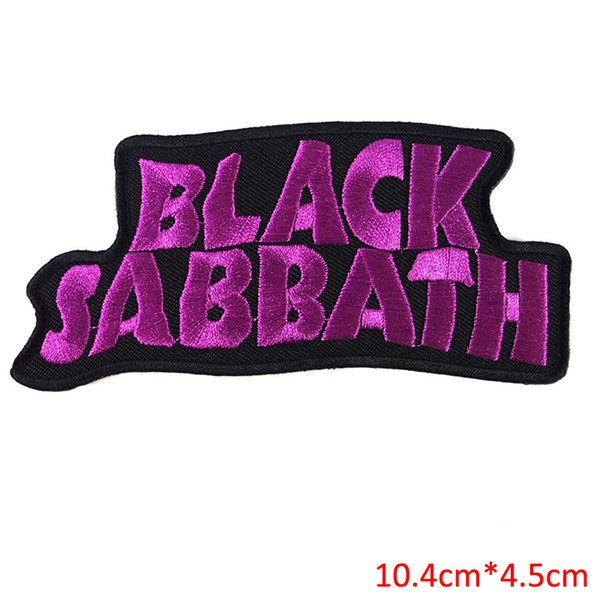 Free Shipping 10pcs/Set BLACK SABBATH heavy metal punk rock band Iron On Patches label DIY letter for sweater jacket sportwear