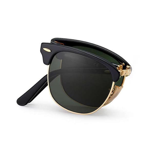 Wholesale- VIAHDA vintage Folding sunglasses classic fashion brand Designer lunette designer retro for men/women glasses