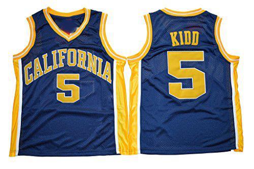 Mens California Golden Bears Jason Kidd College Maillot de Basket Vintage Bleu Marine # 5 Jason Kidd Chemises Université Stitched Jerseys S-XXXL
