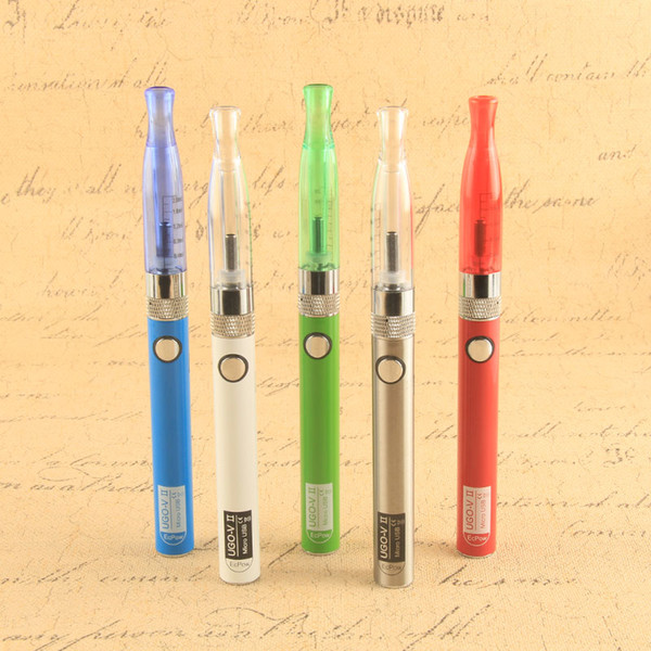 UGO V II H2 Vape Pen Starter Kit Ego 510 Thread With Passthrough Mirco Usb Electronic Cigarette 650 900mAh Battery Multi Colors