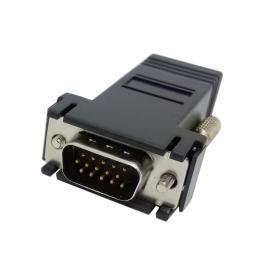 100pcs VGA RGB 15pin maschio extender a Lan Cat5 Cat5e RJ45 Ethernet femmina adattatore nero nuovo
